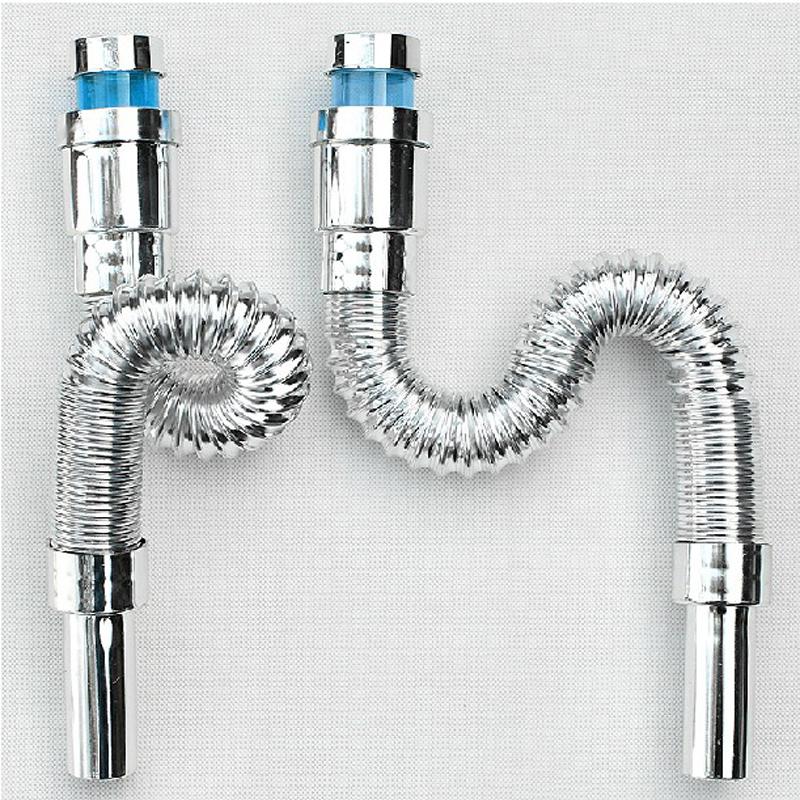 妙记 洗脸盆面盆下水管 下水器排水管 双重防臭可伸缩