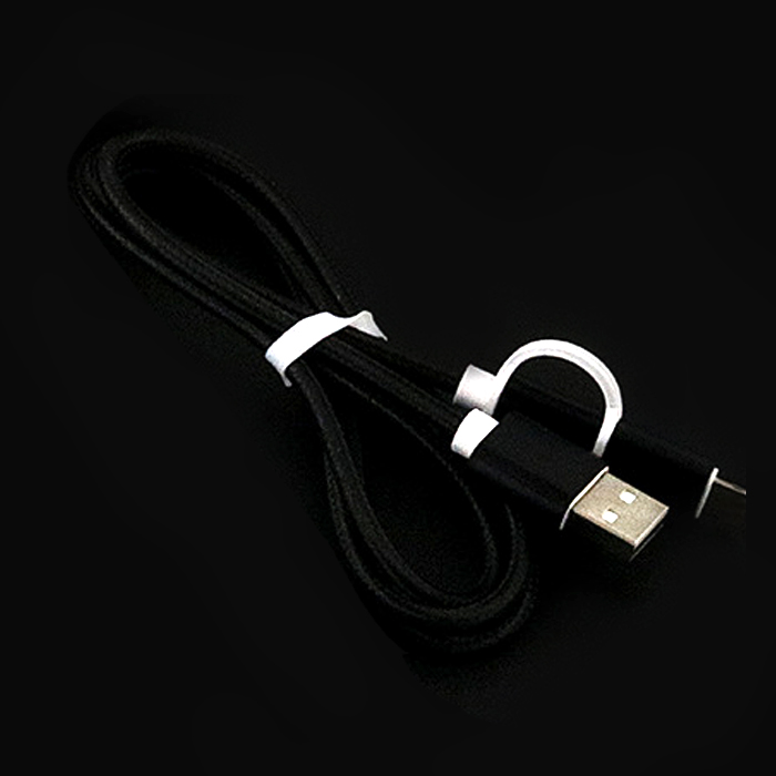 Nylon Braided 2 in 1 High Speed Sync Data Micro USB Charging Cable Line For iPhone 7 6s Plus Android 580200