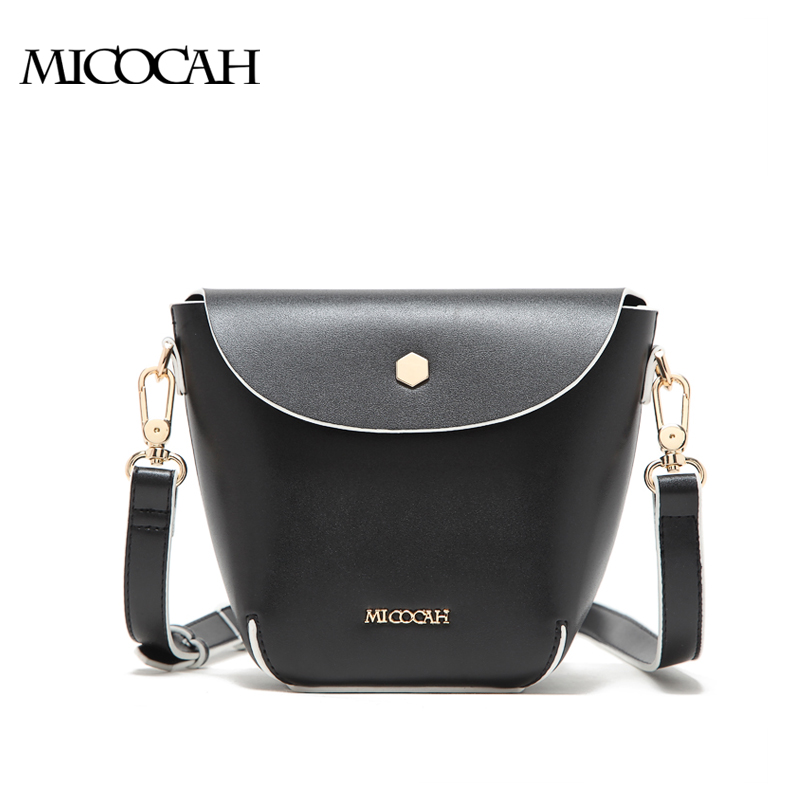 Solid Black And White Fashion 2016 Women Bag Environmental PU Leather Women Messenger Bags Cover Brand Bag New Arrival