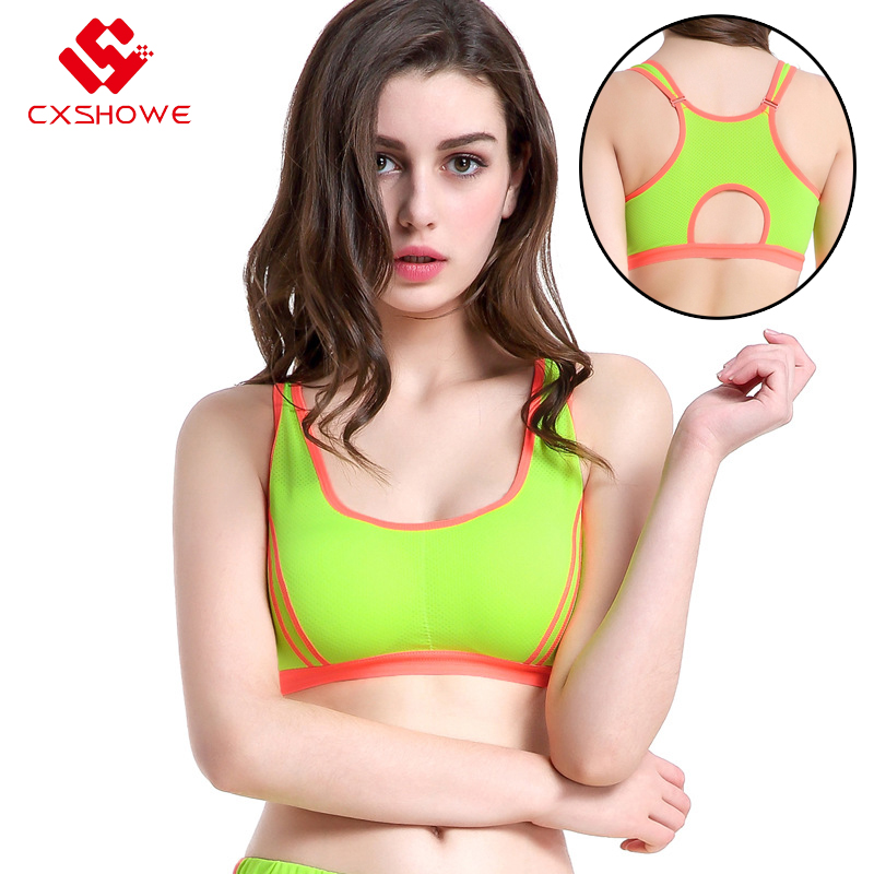 Gym High Quality Bandage Sports Bra Women Fitness Running Bra Tops Exercise Brand Yoga Vest Shockproof Sport Tank Tops