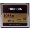 Toshiba (TOSHIBA) EXCERIA Pro CF карта памяти 64 ГБ читать 160M написать 150M 1066 скорость / VPG-65 переход дымохода для бани agni 0 8 d 160m 150m