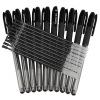 Соединенные (Comix) 0.5mm черная гелевая ручка GM / ручка / ручка (10 ручки 10 сердечника) Офисное оборудование K3260 гастроном дели s26 офис гелевая ручка ручка углерода ручка ручка черная 0 7mm 12 палочки