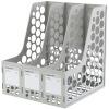 (Comix) B2013 ABS прочный тройной файл бар / файл окно / файл кадра серый офис канцелярские medium corner duct surface cable cord wire raceway 1150 series 8 feet