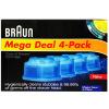 Braun электрическая чистка бритвы картридж жидкость 4 Mega Deal 4-Pack газонокосилка электрическая несамоходная mega 41500 els