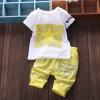 Летняя детская одежда для мальчиков Повседневная хлопка Lovely Short Sleeve Shirt + Pant Детская новорожденная детская одежда Детс летняя детская одежда для мальчиков повседневная хлопка lovely short sleeve shirt pant детская новорожденная детская одежда детс