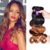 3 пучка Ombre бразильские волосы для волос с волной волос 1B / 30 Remy Hair Weave Выпрямления для волос можно купить больше набор для ламинирования волос дома купить