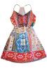 Lovaru ™мода дизайн полиграфии планки спагетти мини-платья V-образным вырезом случайные партии моды и пляжные платья свободное платье с v образным вырезом marni платья и сарафаны мини короткие