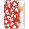 Hello Kitty Apple, телефон оболочки 7/8 iPhone7 / 8 мультфильм все включено защитный рукав силикона мягкая оболочка падение сопротивления 4,7 дюйма * Hello Kitty хлопок конфеты красный
