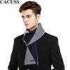 CACUSS2017 осень и зима новый сплайсинг шарф мужской шерстяной шарф зима теплый подарочной коробке W0048 ВМС серый плюс один размер cacuss w0038 чистый шерстяной шарф мужской теплый шарф подарочная коробка серый