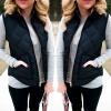 Женская зимняя куртка Черная жилетница с капюшоном Женская котенка Женская жилет без рукавов Жилет с женщиной с застежкой-молнией