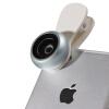 Новизна (LIEQI) F-505 мобильный телефон рыбий глаз широкоугольный объектив макро три-в-костюме Apple, iphone Huawei селфи внешняя зеркальная камера Синий