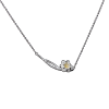 Luo Linglong s925 sterling silver necklace female gold plum blossom clavicle chain jewelry temperament accessories handmade origin luo linglong s925 sterling silver necklace pendant butterfly necklace jewelry anti allergic simple temperament personality fresh