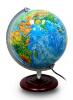 25CM PVC中英文地形/政区地球仪(灯光型)