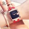 GUOU Простая мода Женские часы Женские повседневные кожаные кварцевые часы женские часы часы женские