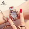 GUOU Лучшие бренды Роскошные модные женские часы Мужские кожаные наручные часы Календарь Часы