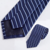 Yuzhao Lin YUZHAOLIN Мужская формальная одежда бизнес галстук свадебный жених полосатый галстук подарочная коробка классическая синяя и белая сетка