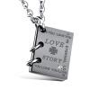 Романтичная «Любовная история» Подвеска с ожерельем из ожерелья из титана Нержавеющая сталь Его и у него сплит-соединение Совмести