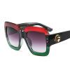 дешевые негабаритные солнцезащитные очки женщины квадратные белые черные большие женские солнцезащитные очки женские 2018 uv400 Негабаритные квадратные солнцезащитные очки женщины градиентные линзы солнцезащитные очки женщины бренд роскошь зеленый красный