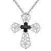 Австрийский кристалл крест подвеска ожерелья женщин высокого качества Rhinestone белого золота позолоченный христианский подарок ювелирных изделий .23941