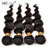 HCDIVA 4 Bundle Loose Wave Перуанские человеческие волосы 100g / Bundles Цвет Natural Black 4pcs / lot black currant extract 100g lot