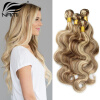 Nami Hair Piano Color 3 Bundles #8/613 Brazilian Body Wave Human Hair Extensions 14-26 Hair Weave Free Shipping porcelain dresser knobs pulls drawer pull handles kitchen cabinet door knobs white gold silver furniture cupboard hardware