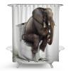 слоновая цифровая печать Anti Bacterial Waterproof Polyester Shower Curtain слоновая цифровая печать anti bacterial waterproof polyester shower curtain