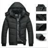Зимнее пальто  Мужчины черный Куртка Тепло Пальто изнашивать Хлопок подбитый  С капюшоном вниз пальто зимнее куртка женское в беларуси