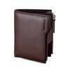 hansband ® бренд к 2015 году ноых людей черным подлинного кожаную сумку billfold с карты имеют роскошь мужчины портмоне