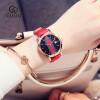 GUOU Роскошный бренд Женские кварцевые часы Женские кожаные ремешки Часы Модные платья Часы наручные часы guou роскошный горный хрусталь часы женские часы женские часы женщины ретро часы