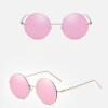 Солнцезащитные очки для женщин Круглые солнцезащитные очки Вождение Роскошные бренды Покрытие зеркало Солнцезащитные очки Женские бренды