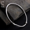 Luo Linglong Thai silver bracelet couple jewelry simple temperament personality fresh hand original цена