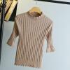 женщины Высокий воротник Свитера Стройное Тепло основывая Свитер трикотажный Пуловер