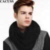 CACUSS W0029 Пара теплый шерстяной шарф Мужской зимний черный Один размер cacuss w0038 чистый шерстяной шарф мужской теплый шарф подарочная коробка серый