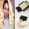 Ombre Color #1B Fading to Color #613 One Piece Clip In Human Hair Extensions 5Clips With Lace Virgin Human Hair new arrival clip in hair extension 4t 613 dark brown hair with blonde highlight peruvian virgin human hair extensions free ship