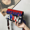 DALFR Leather Shoulder Bag Women Pu Colorful Spray Painting Crossbody Bags for Women Designer Bags Famous Brand Women Bags 2017