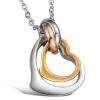 Love New Fashion Jewelry Титан Нержавеющие овальные кольца Серьги Подвеска Ожерелье с цепочкой Личность Пары Любители Ключ с подар