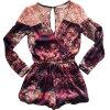 Lovaru ™летом стиль Женщины Летняя мода для печати Комбинезоны Vestidos Повседневная шифон Комбинезоны выдалбливают одежду комбинезоны