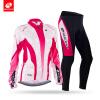 NUCKILY Winter Womens Bike Wear Long Sleeves Fleece Thermal Sublimation Велоспорт Джерси Костюм