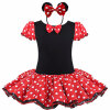 Baby Kids Dress Minnie Mouse Party Необычные костюмы Cosplay Girls Ballet Tutu Dress + Ear Headband Girl Polka Dot Clothing Girl Dress 1set baby girl polka dot headband romper tutu outfit party birthday costume 6 colors