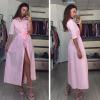 Lovaru ™ Fashion Casual New Women Dress Loose Pink Blue Осенние летние пляжные вечерние платья Vintage Women Long Dress вечерние платья в старом осколе
