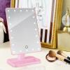 Di Mente зеркало для макияжа с лампой настольного светодиодного зеркала одностороннего зеркала тщеславия 20 шариков большое зеркало HD 291 розовый