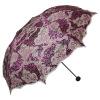 Рай зонтик крыло крыло Tianxiang двойной черный кружевной фильм охватывает три раза ультра-свет солнечный зонтик солнце зонтик дата 33191E кружевной черный бейбидолл 40 42