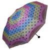 Небесный зонт красочный неоновая радуга пряжа платье юбка черная резина двойная складка три солнечный зонт зонт зонт фиолетовый желтый синий 33074E зонт ф315