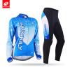 NUCKILYЗимняя женская велосипедная одежда Синяя верховая езда Спортивная одежда с длинным рукавом Велоспорт Джерси Костюм GE009GF0