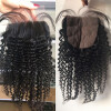 Silk Base Closure 4 * 4inch Free Middle Part 3 Way Part Скрытые узлы G-EASY Natural Color Afro Kinky Curly Brazilian Virgin Human Ha 6a silk base closure mongolian kinky curly virgin hair silk base lace closure bleached knots three middle free part lace closure