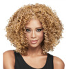 Dalin Curly Wig Heat Resistant Fiber Synthetic Wigs Two Tone Brown and #27 100% Heat Resistant Fiber Kinky Curly Free Style 300g 1 xd j00268 new heat resistant harajuku series mixed color curly wig two ponytail