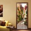 3D обои ПВХ самоклеящиеся водонепроницаемые фото стены наклейки двери наклейки европейская улица пейзаж кафе столовая Papel Murals плнка пвх на двери