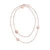 Г-жа Folli Follie Folli Follie Роза цветок свитер цепи ожерелье из розового золота 2N15T002