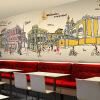 На заказ 3d роспись Гонконг Стиль ручная роспись граффити роспись город улица улица чай кофе ресторан KTV обои фреска ресторан кофе