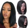 AISI HAIR Синтетические короткие парики для черных женщин Короткие черные волосы Боба Парик Вырезать волосы ботинки синтетические